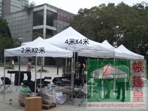白色帳篷4米X4米-a